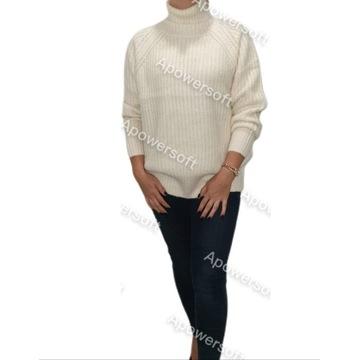 Sweter Z Golfem Rozmiar uniwersalny luźny ciepły