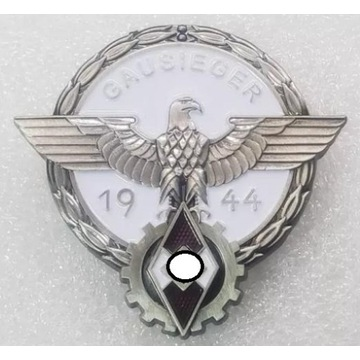 WW2 Niemiecka Odznaka Gausieger 1944, sygnowana