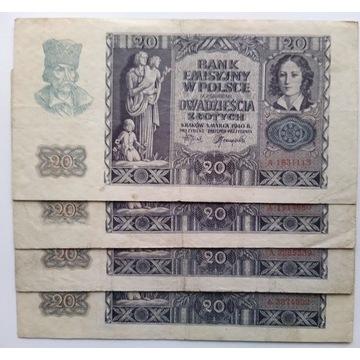 20 Złotych 1940 seria A