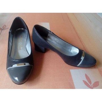 Eleganckie NOWE buty na obcasie 3,5 cm KAMEX BUT