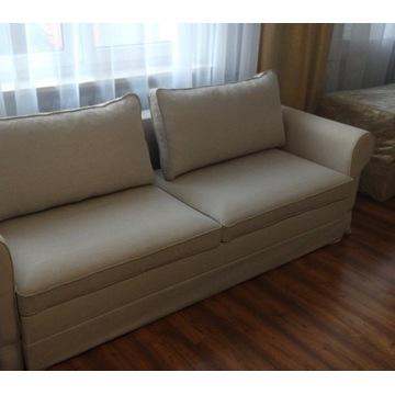 Kanapa sofa rozkładana ecru kremowa NOWA