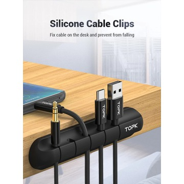 2x TOP L16 Organizer do kabli przewodow silikonowy