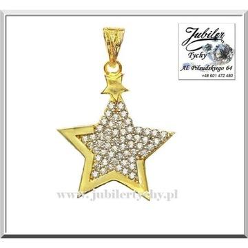 Złota zawieszka gwiazdka złoty wisiorek gwiazda