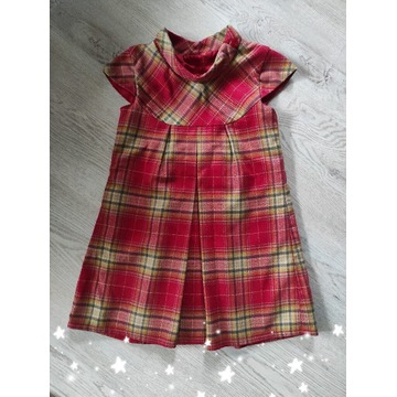 Bezrękawnik / sukienka na Święta NEXT 104 cm