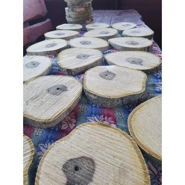 Plastry drewna orzech nie szlifowane