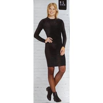 Nowa Sukienka Jesienna Czarna Ciepła XL