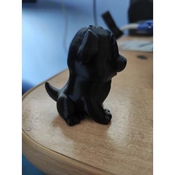 Piesek miniaturka z drukarki 3d