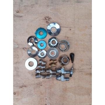 Krzywki do baterii + rozety różne