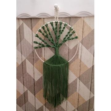 Łapacz snów dekoracja makrama eko boho handmade