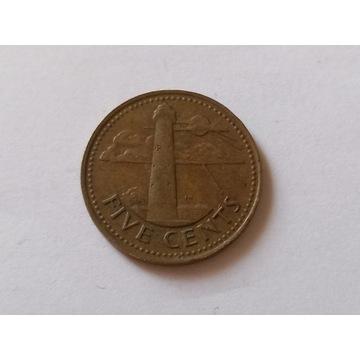 Obiegowa moneta FIVE CENTES 1973 r