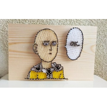 String Art Obraz One-Punch Man Saitama Rękodzieło