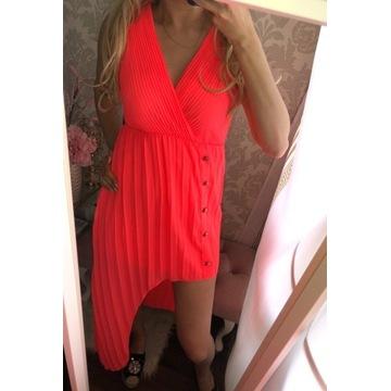 Cudo sukienka neon różowa styl LV zara cc !