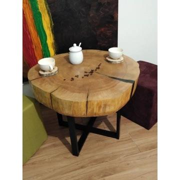 TWÓJ PROJEKT stolik kawowy PLASTER drewna ŻYWICA