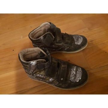 Buty błyszczace za kostkę, dziewczynka, roz. 33-34