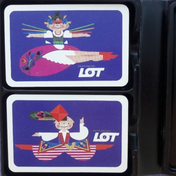 Karty do gry - Polish Airlines LOT - COEUR 2 talie
