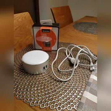 Lampka nocna LED z ładowarką USB 2,4A ColorWay alu