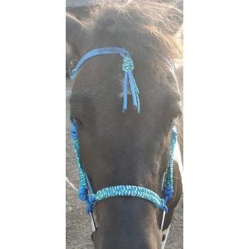 Halter sznurkowy dla konia z oplotem