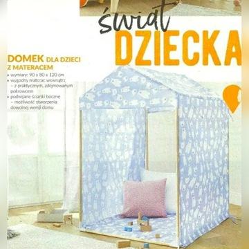 Domek dla dzieci z materacem