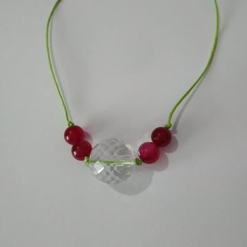 Naszyjnik Agat - biżuteria kryształowa dł. 80 cm