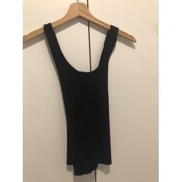 Koszulka czarna w prążki na plecach X mango r.s