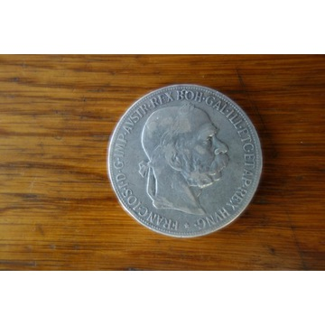 Moneta Austria  5 Koron 1900r. Srebro