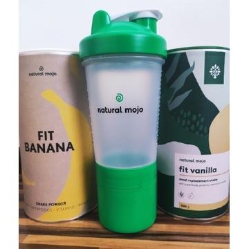 Zestaw fit Banan i Vanilla szejker Natural Mojo