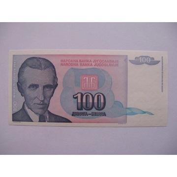 Jugosławia - 100 Dinara - 1994 - P139 - St.1