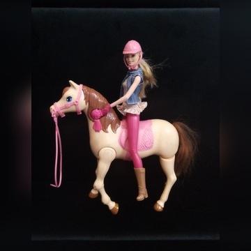 Koń chodzący Barbie i lalka dżokejka oryginalne