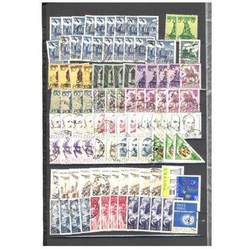 180 szt. znaczków POLSKI kasowane