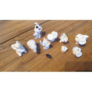 Figurki ceramiczne - słonie i świnki