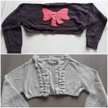 2 bolerka, rękawki r.98/ 104, sweterek, narzutka