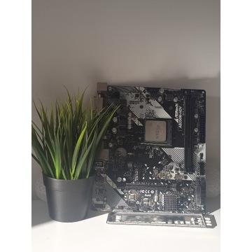 ASRock B350 B350M-HDV + AMD Ryzen 5 1500X Pudełko