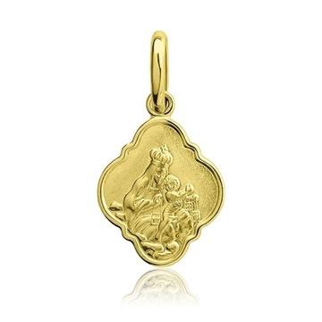 Złoty medalik Najświętsza Maryja Panna KOMUNIA !
