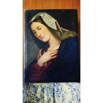 Obraz Matki Boskiej malowany na płótnie 18/19 wiek
