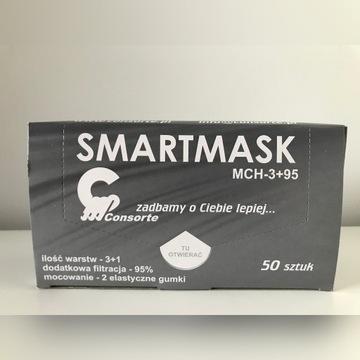 Maska Maseczka Chirurgiczna 3+1 warstw Koronawirus