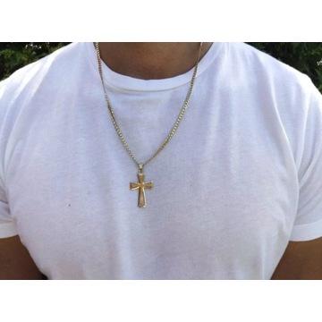łańcuszek złoty 585 + krzyż 585