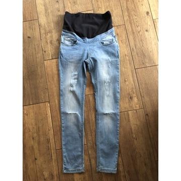 Boohoo jegginsy ciążowe 38/M jeansy spodnie