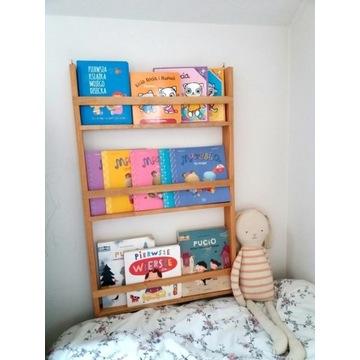 Regał montessori na książki dla dzieci. Drewno!