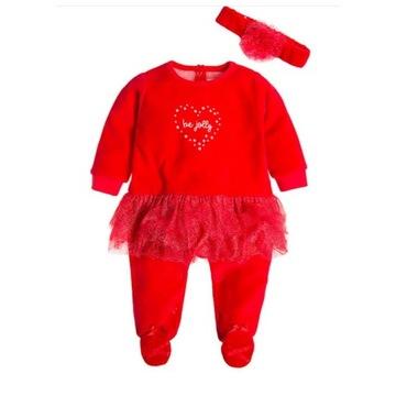 Pajacyk Świąteczny dziewczęcy,ze spódnicą i opaską