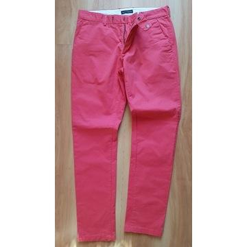 męskie spodnie czerwone chinosy Wólczanka