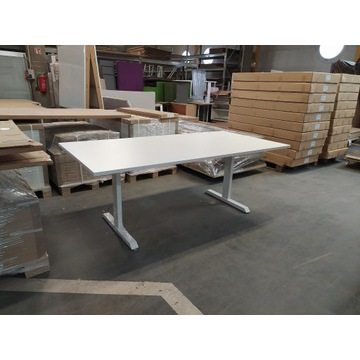 Stół konferencyjny 200 x 100 cm blat biały