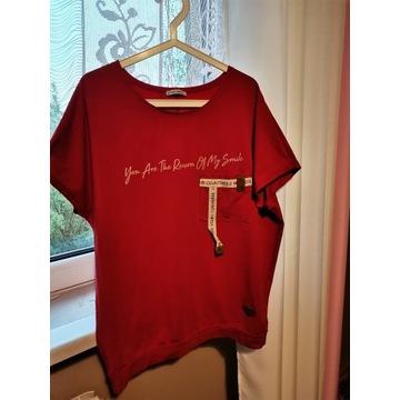 Bluzka oversize czerwona XL