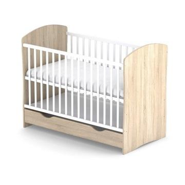 Łóżeczko niemowlęce z szufladą Sosna 120x60
