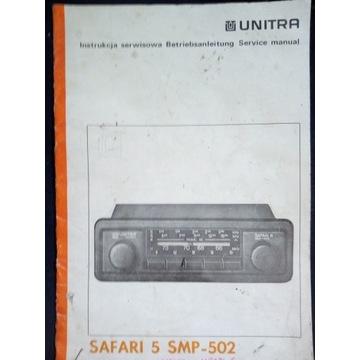 Instrukcja serwisowa Unitra Safari 5 + wkładki
