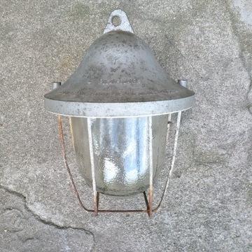 Lampa przeciw-wybuchowa z PRL / Retro wnętrze