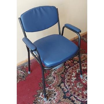 Krzesło toaletowe tapicerowane, przenośne WC