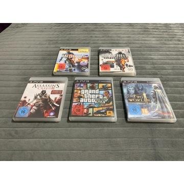 ** Pięć gier na PlayStation 3 / PS3 **