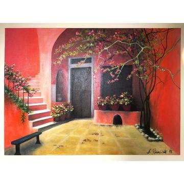 obraz olejny na płótnie.wym.50x70