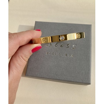 Bransoletka z cyrkoniami żółte złoto wzór Cartier