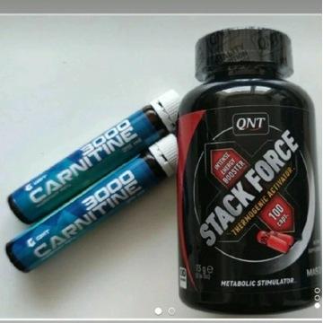 QNT stack force fat burner spalac thermal GRATISY